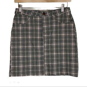 Urban Heritage plaid mini skirt